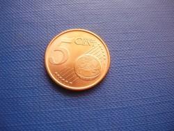 PORTUGÁLIA 5 EURO CENT 2011 ! UNC! RITKA!