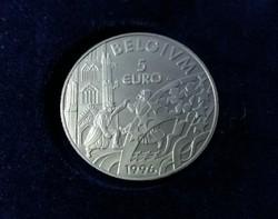 Belga 5 Euro certivel díszdobozban.