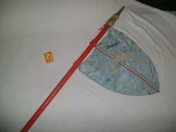 Régi őrsi zászló, kisdobos zászló nyéllel - delfin őrs
