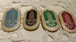 Moszkvai olimpiai kitűzők, Moszkva ,olimpia