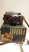 Zorkij 4 fényképező, fényképezőgép, szovjet, orosz