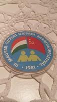 Magyar-szovjet ifjusági barátságfesztivál kitűző, jelvény  1981