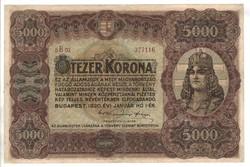 5000 korona 1920 2. nagyon szép