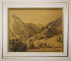 Alexandre Calame (1810-1864) grafika