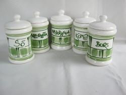 Kerámia fűszertartó készlet 5 db-os