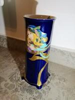 Hollóházi Faragó Miklós cobalt váza