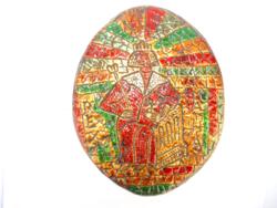 Szent István kerámia falikép