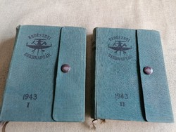 Erdészeti zsebnaptár I-II. 1943