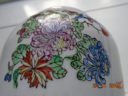 Kézzel festett Aranyzománc Paradicsommadár,krizantém mintákkal,kézzel jelzett kínai teás cukortartó