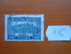 40 FILLÉR 1929 BUDAI VÁR  416#