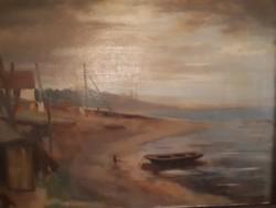 Jelzés nélküli olaj fa  festmény