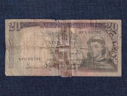 Portugália 20 Escudo bankjegy 1964 / id 12890/