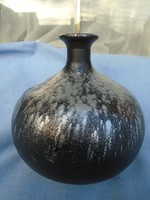 Francia art new studió üveg váza (lalyque minőség) nehéz darab