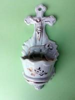 Isten báránya porcelán szenteltvíztartó