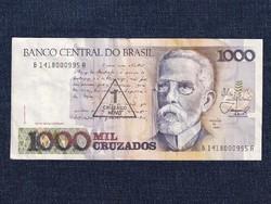 Brazília szép 1000 cruzado bankjegy felülbélyegzéssel 1988 / id 12903/