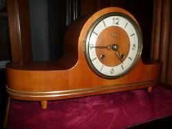 Szép antik Art Deco működő kandalló óra