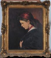 Rezes Molnár Lajos (1896-1989): Fiatal menyecske portré