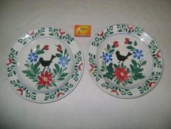 Antik Wilhelmsburgi falitányér, tányér EGYDARAB! - madaras, virágos