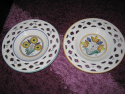 2DB,csipkés, mezei virágos, porcelán tányér, 24cm, 119