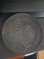 Szèp, fekete kerámiatál, kb.20 centis