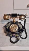 Ritka porcelán retro vezetékes telefon...