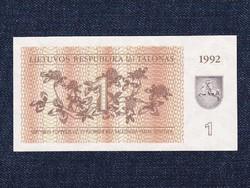 Litvánia nagyon szép talonas bankjegy 1992 / id 12926/