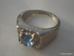 .Fehérarany Gold filled világoskék gyűrű olcsón