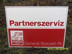 Generali Biztosító Partnerszervíz retro  reklámtábla