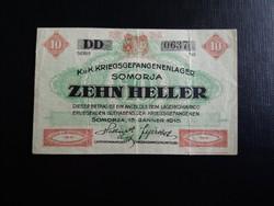 Somorja 10 Fillér 1916.