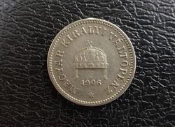 Ritka 1906 10 Fillér Vf+.