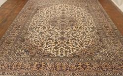 EXTRA LUXUS kézi csomózású perzsaszőnyeg bézs színű származása Perzsia/Irán 406cm x 293 cm