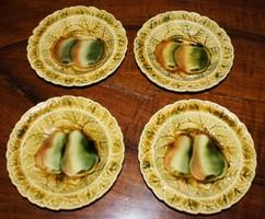 4 Sarreguemines majolika tányér