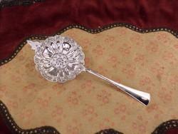 Ezüst teaszűrő / porcukorszóró