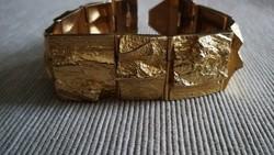 Björn Weckström antik, régi vaskos 18 karátos arany karkötő.