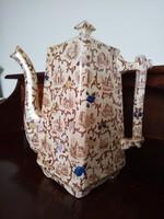 Antik fajansz szögletes teás kanna 27 cm!