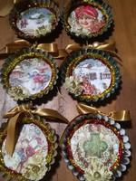 Karácsonyfadíszek, handmade