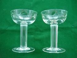 Csiszolt üveg poharak