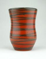 0Y938 Régi kisméretű iparművészeti kerámia váza