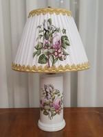 Porcelain de Paris porcelán lámpa festett lámpaernyővel
