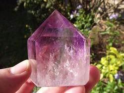 Ametiszt és füstkvarc kristály, ásvány