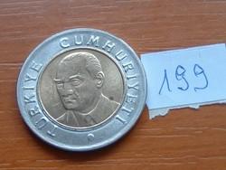 TÖRÖK 1 LÍRA 2005 BIMETÁL 199.