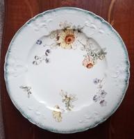Antik Longway polychrom fajansz kínáló