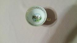 Bécsi porcelán csésze alátéttel