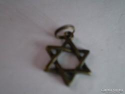 Dávid csillag bronz szinű