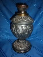 Antik fém petróleum lámpa