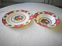 Ritka! Royal Albert Lady Carlyle  Angol szikrázó hófehér porcelán tányérok.1db.  mély és 1db lapos