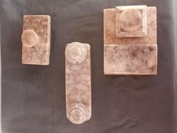 Antik márvány íróasztali kellékek