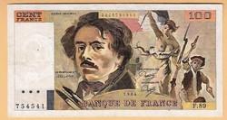 Francia bankjegy 100 Frank
