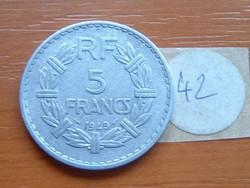 FRANCIA 5 FRANCS FRANK 1949 ALU. 42.