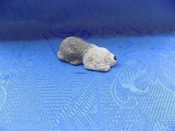 Kézzel készített kerámia Angol kutya figura hossza 9,5 cm (12/d)